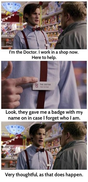 The Doctor's name tag