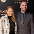 The Flash - 100th episode celebrations - stephen-amell-and-cassandra-jean-amell photo