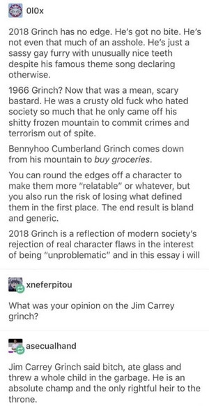 The Grinch Analysis