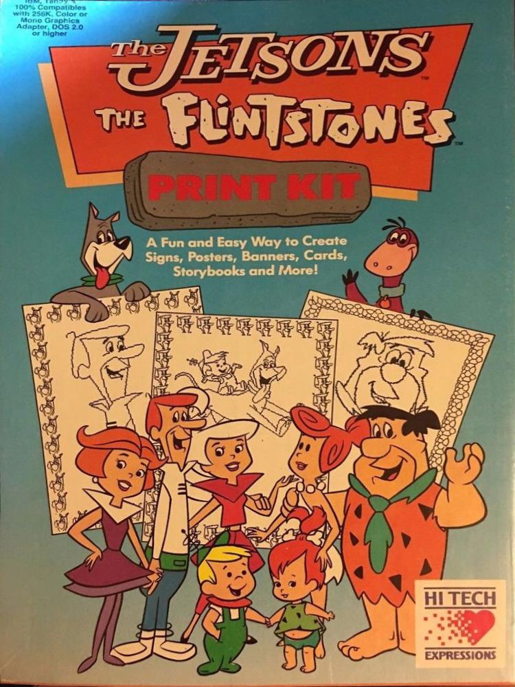 The Jetsons And Flintstones Print Kit