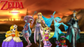 The Legend of Zelda and other Princesses - nintendo fan art