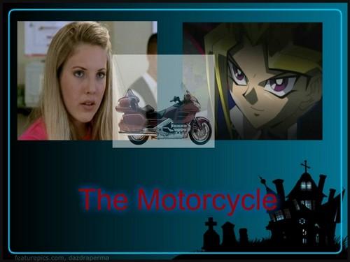 Yami Yugi karatasi la kupamba ukuta entitled The Motorcycle