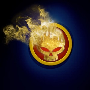 The Offspring Skull in Flames