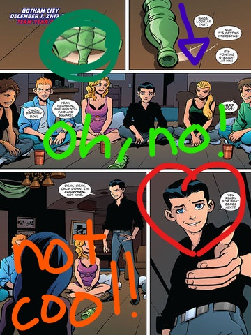 Young Justice boys belong to us! Hintergrund entitled The Young Justice League play Spin the Bottle!
