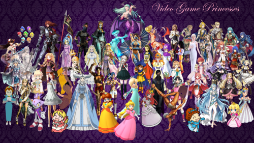 video game hình nền entitled Video Game Princesses