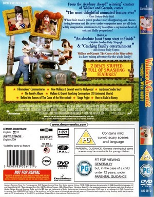 Wallace and Gromit: The Curse Of The Were-Rabbit On DVD (UK Version)