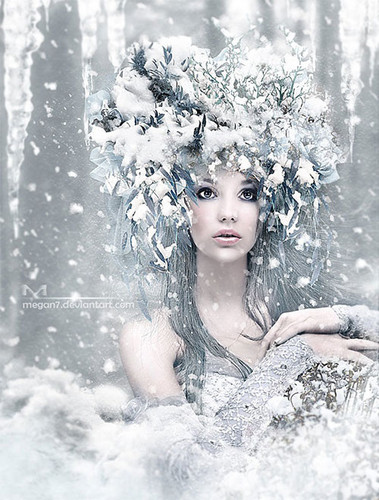 Lavendergolden Hintergrund titled Winter Beauty