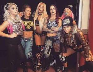 With Alexa Bliss, Alicia Fox, The Riott Squad