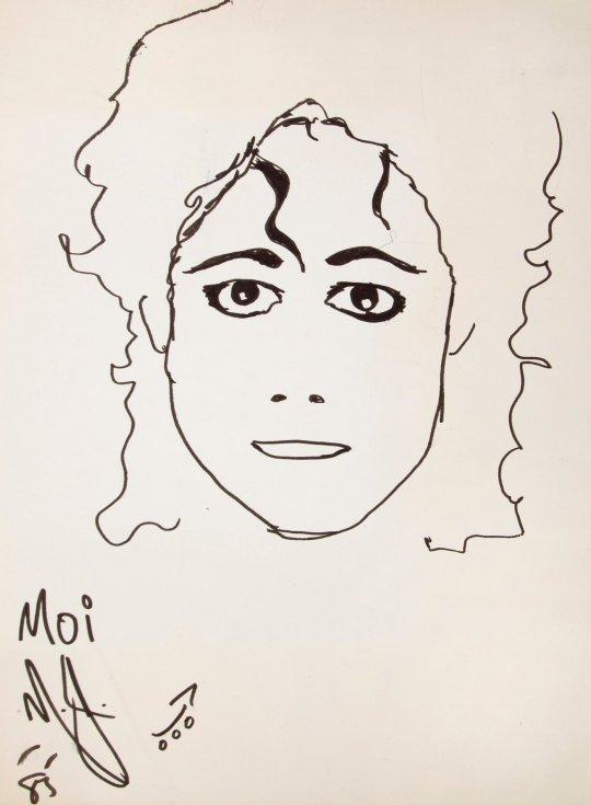 michael jackson self portrait