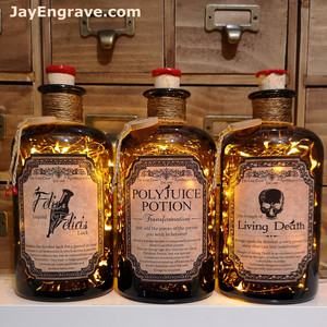 polyjuice potion living death felix felicis apothecary bottle lamp set 01