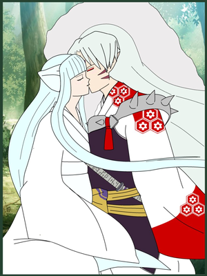 sesshomaru Kiss by worldangel dcr967d