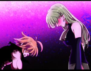 *Demon Meliodas Protecting Goddess Elizabeth : Nanatsu No Taizai*