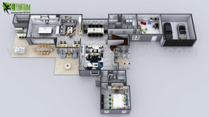 3D Floor Plans Create House নকশা Ideas দ্বারা Yantram virtual floor Plan Amsterdam.
