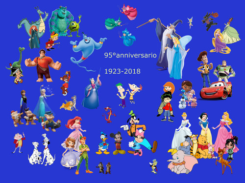 Disney fond d'écran titled 95 anni Disney