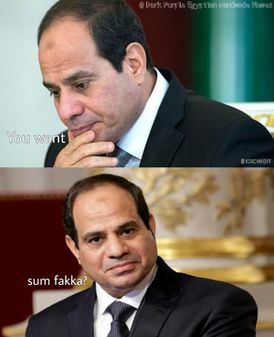 ABDEL FATTAH ALSISI JUST FAKE NOT REAL