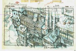animazione layouts from 'Spirited Away'
