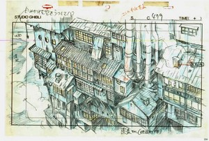 animasi layouts from 'Spirited Away'