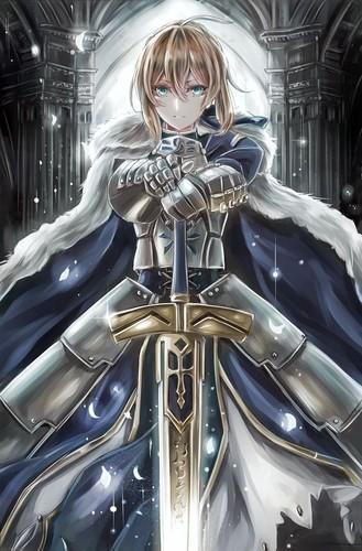 Fate Series 바탕화면 titled Artoria Pendragon