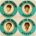 Beatles For President Pins