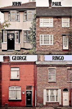 Beatles childhood homes