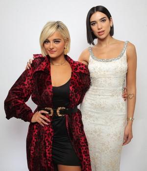Bebe Rexha and Dua Lipa
