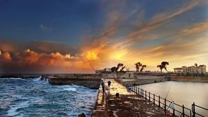 DAWN SEA ALEXANDRIA EGYPT