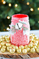 DIY Glitter Mason Jar  - christmas photo