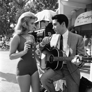 Elvis Presley and Ann Margret on the set of Viva Las Vegas (1964)