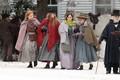 Emma Watson filming with Saoirse Ronan, Florence Pugh and Eliza Scanlen in Harvard  - emma-watson photo
