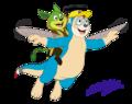 Flying friends  - mike-jupps-dreamstone fan art
