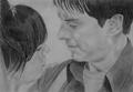 Jack/Gwen Drawing - gwen-and-jack-torchwood fan art