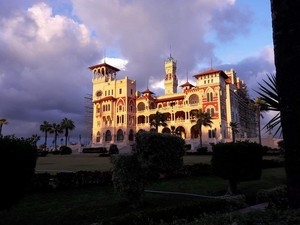 MORNING kasteel IN ALEXANDRIA EGYPT