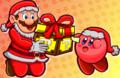Merry Mariomas - kirby fan art