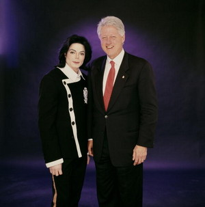 Michael Jackson Bill Clinton