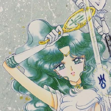 Sailor Neptune karatasi la kupamba ukuta titled Michiru Kaiou