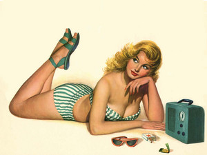 Pin Up Girl wallpaper
