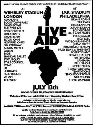 Promo 1985 Live Aid 음악회, 콘서트