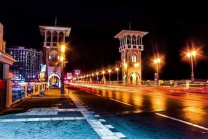 STANLEY AT NIGHT ALEXANDRIA EGYPT