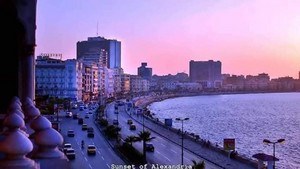 SUNSET OF ALEXANDRIA EGYPT