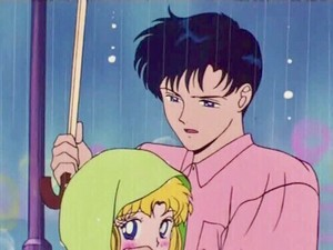 Sailor Moon and Mamoru