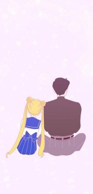 Sailor Moon and Mamoru