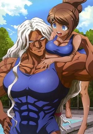 Sakura and Aoi // Danganronpa