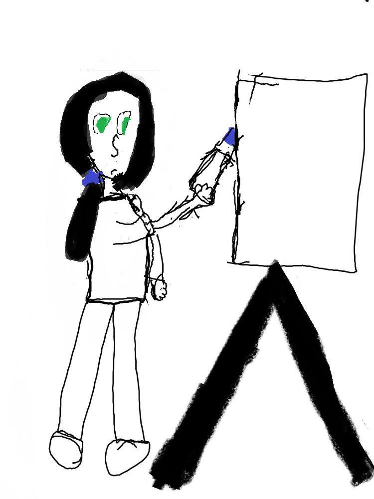 Sara painting