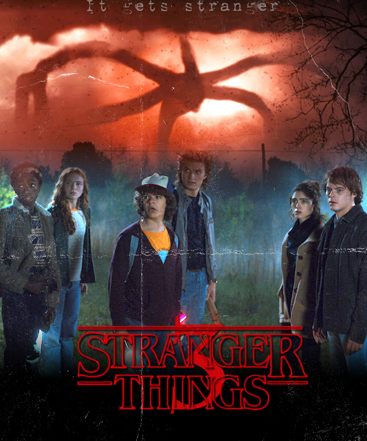Image result for stranger things season 3 poster