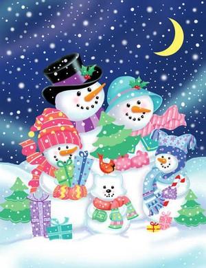 Snowman Family ⛄