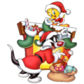 Sylvester and Tweety - christmas photo
