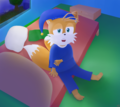 Tails Is Feeling Sleepy - miles-tails-prower fan art