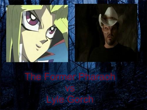 Yami Yugi fond d'écran titled The Former Pharaoh vs Lyle Gorch