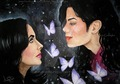 Two Legendary Icons - michael-jackson fan art
