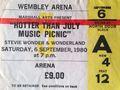 A Vintage 音乐会 Ticket Stub